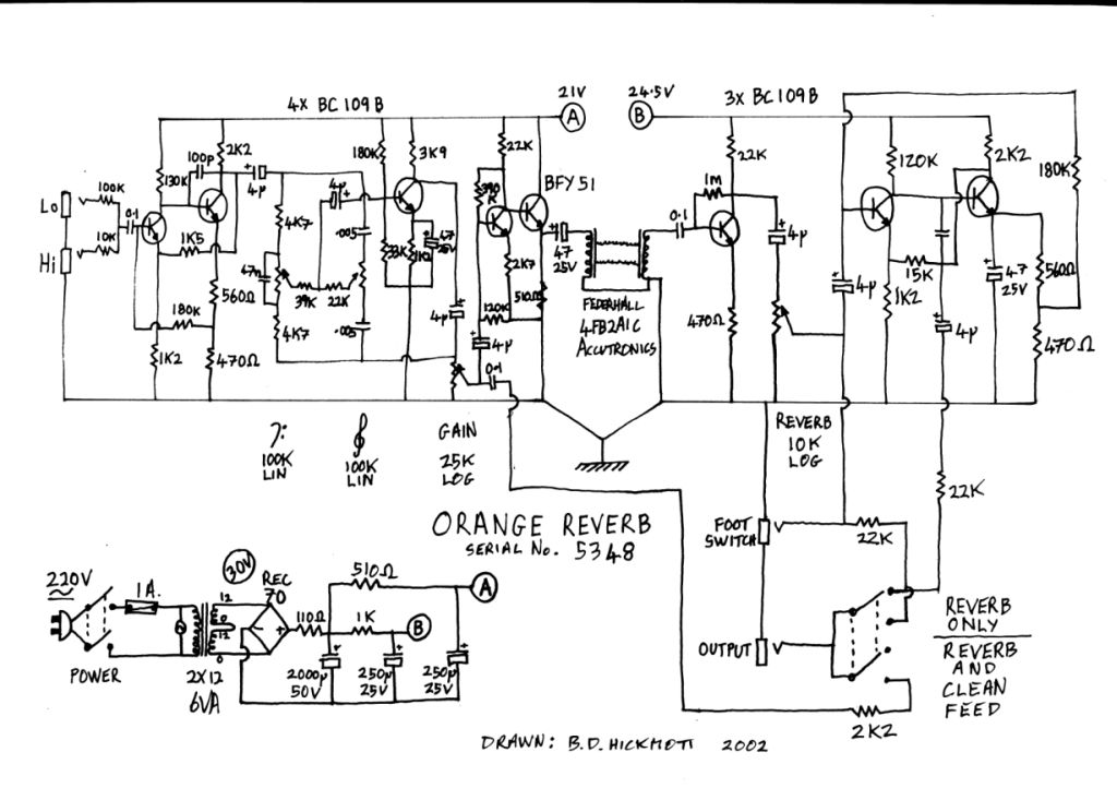 NEW Reverb Unit schematic drawn and donated by Ben