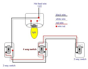 4 way light switch diagram
