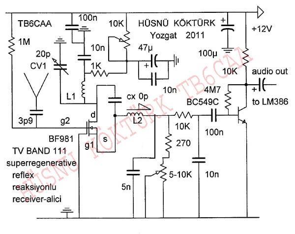 Hüsnü Köktürk regenerative TV band 111 BF981 reflex