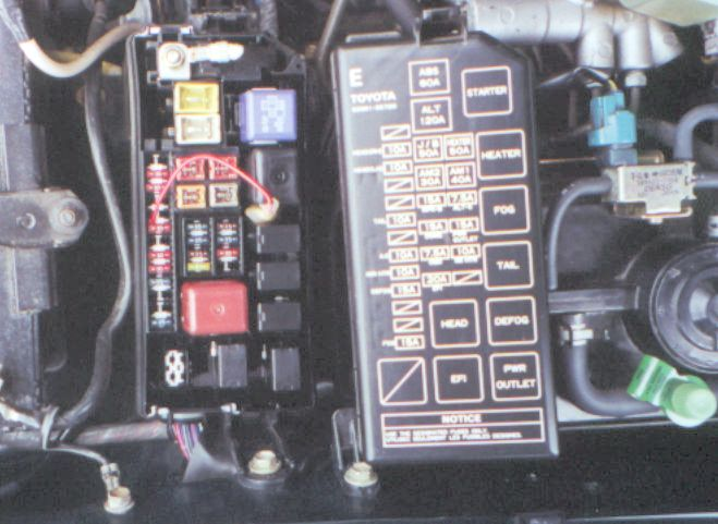 2000 Toyota Mr2 Spyder Kick Panel Fuse Box Diagram