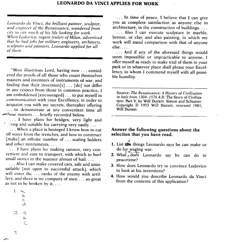 Harlem Renaissance Worksheet