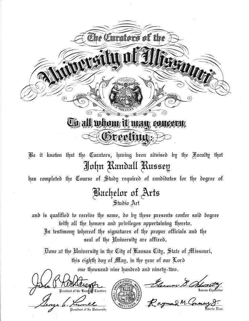 Bachelor of Studio Art (UMKC)
