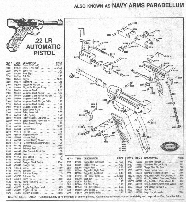 Stoeger Luger 22 Pistol