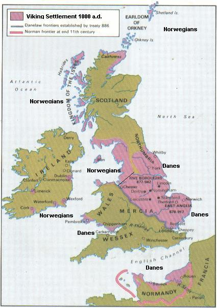 map of england 1000 ad