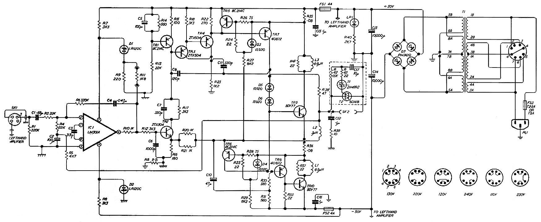 Amplifier Schematic Diagram Auto Electrical Wiring Ih 606