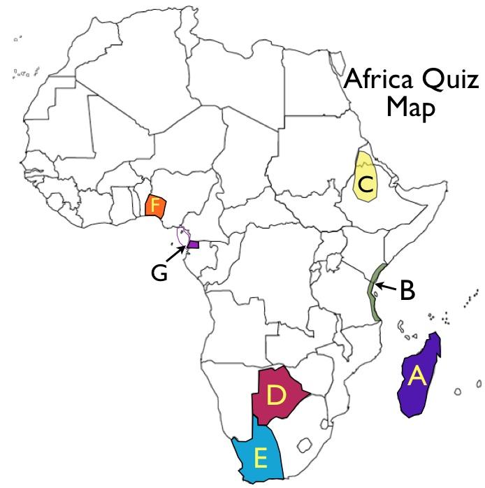 GeoCurrents Africa Quiz Map