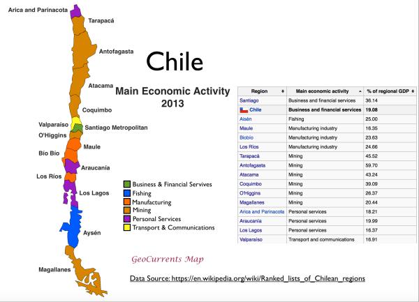 Chile Main Economic Activity Map