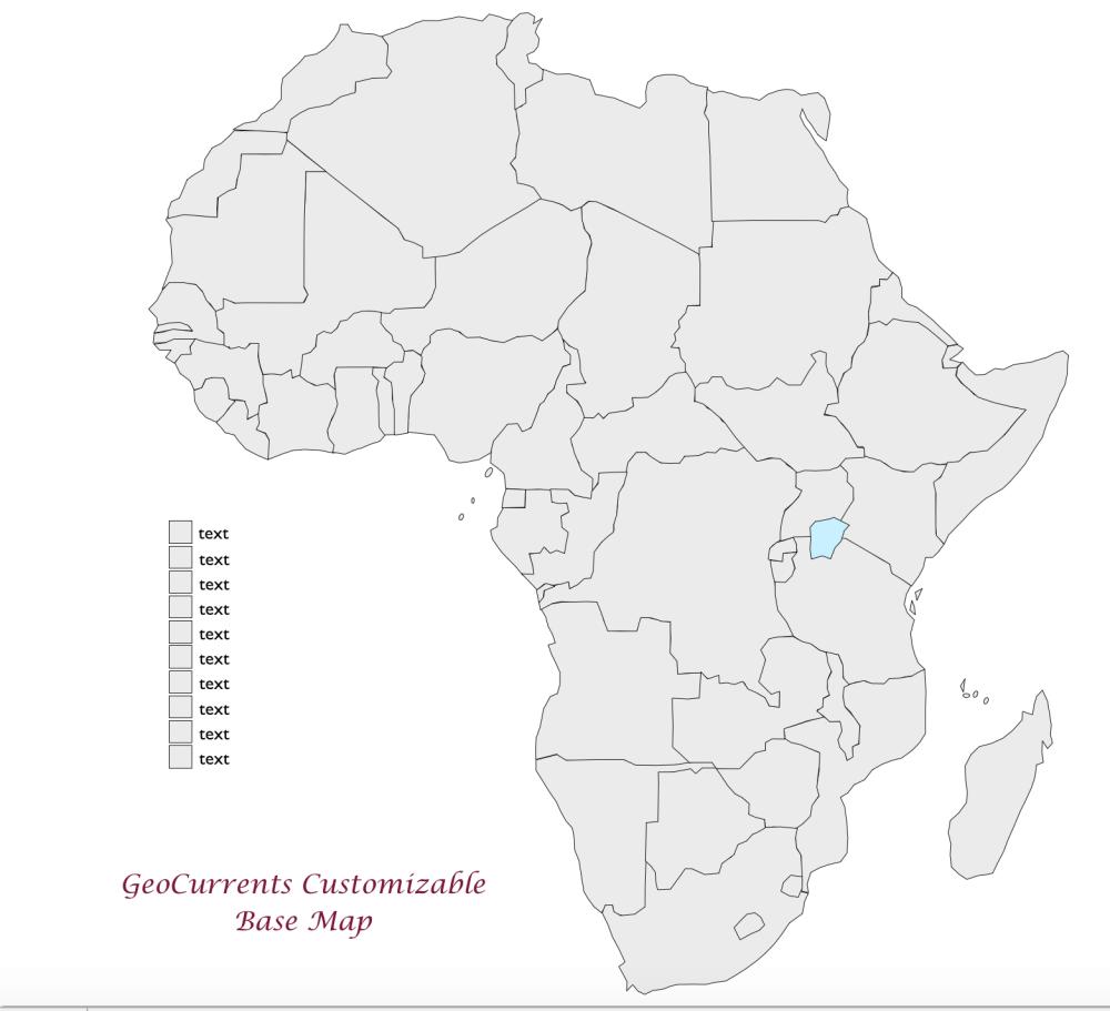 medium resolution of africa customizable map 1