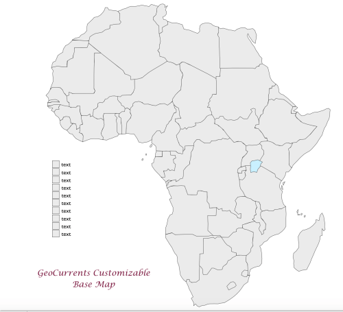small resolution of africa customizable map 1