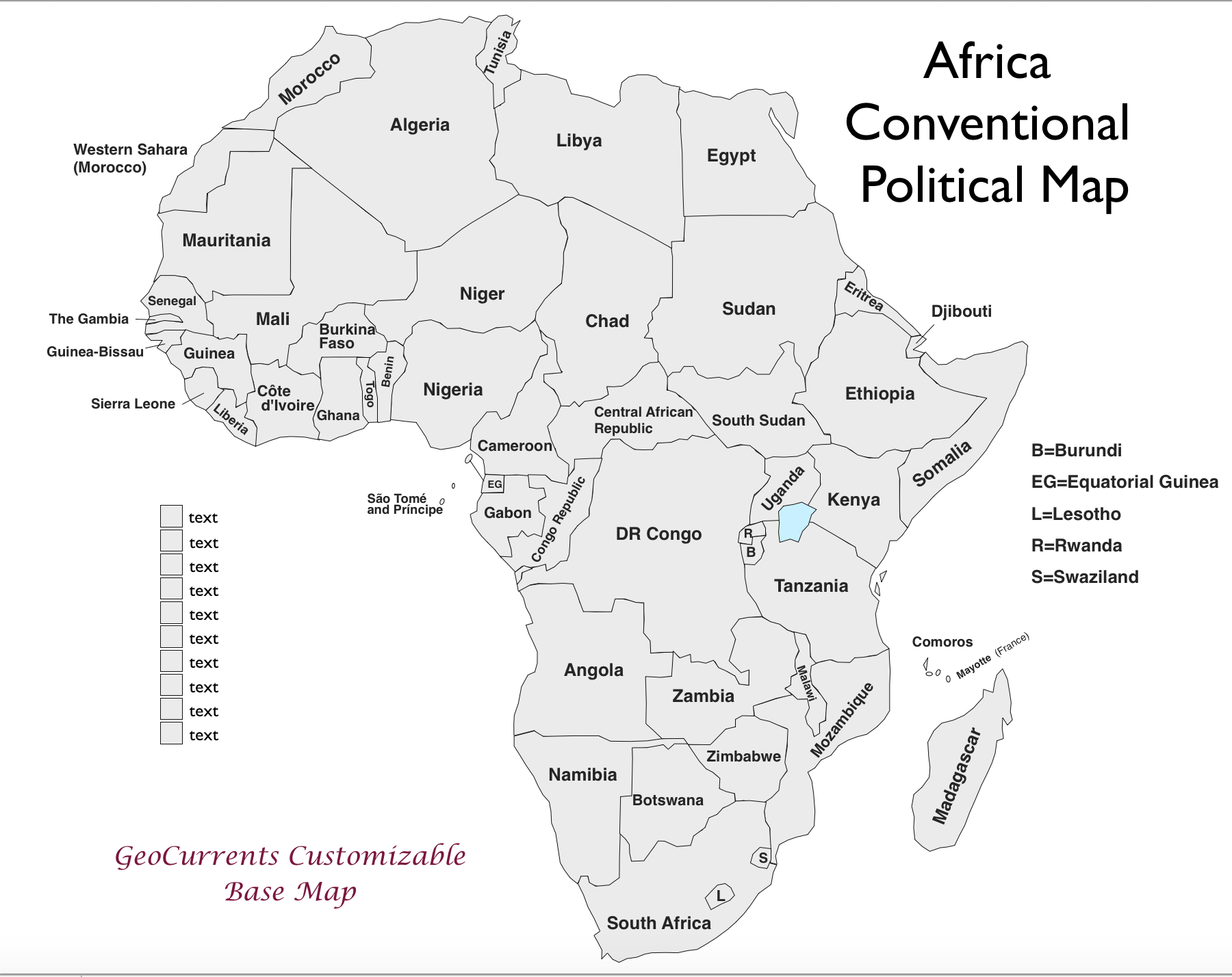 Free Customizable Maps Of Africa For Download