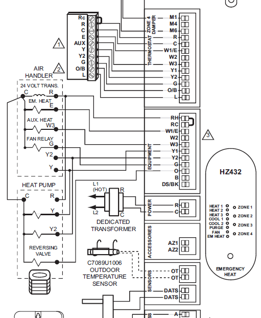 Honeywell Hz311 Wiring Diagram Honeywell Relay Wiring