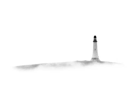 Hoad monument through the mist