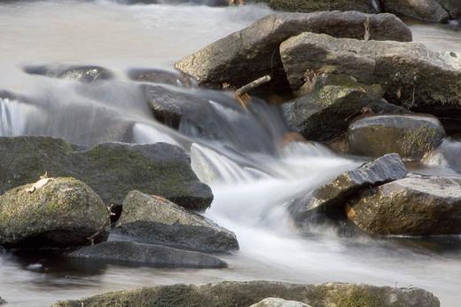 Long exposure Jepps Brook over the rocks closer