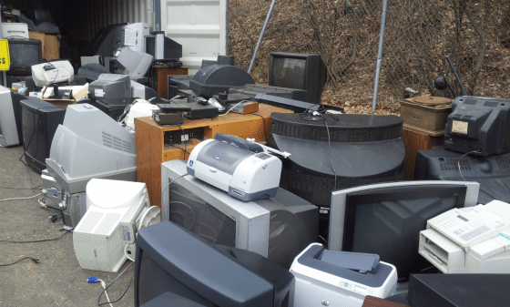 Hamden CT electronics recycling at town Transfer Station