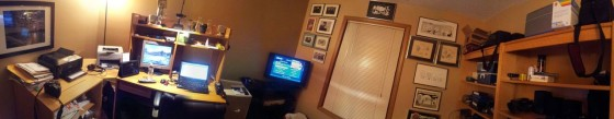 Panorama of my office at home