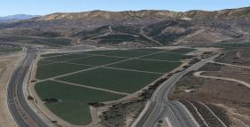 strawberry field irvine aerial