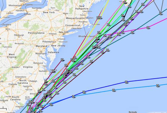 Atlantic TROPICAL STORM ARTHUR - Google Maps