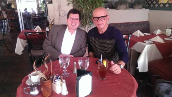 bob hardt and geoff fox at lunch