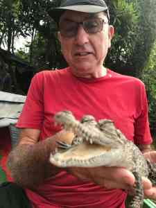 Geoff Jones and crocodile