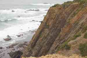 Sedimentary Rocks pushed vertical