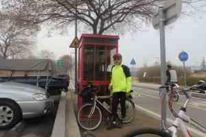 Geoff Jones with bike