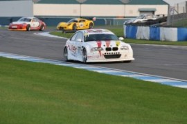 Jeff Wyatt racing at the 2013 GT Cup Championship in the Geoff Steel Racing BMW M3