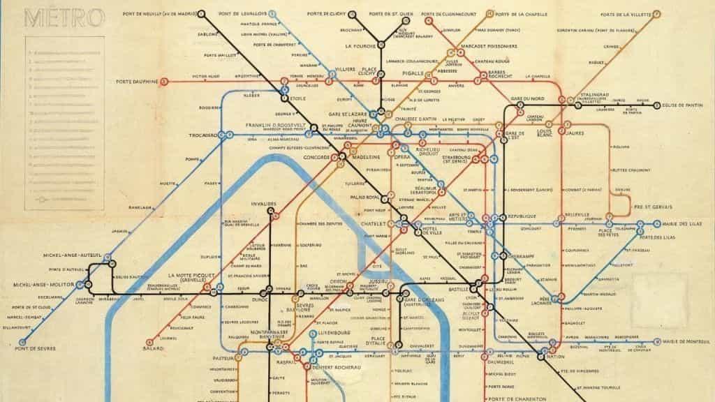 Mapa de Metro de París de Beck