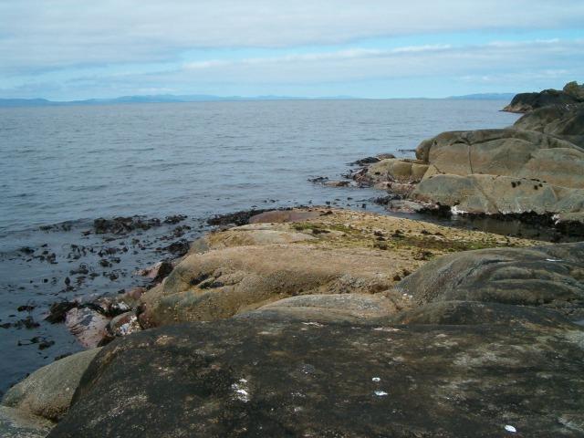 Rocky west coast of Eilean Garbh