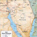 Map Of Sinai Peninsula Egypt Travel
