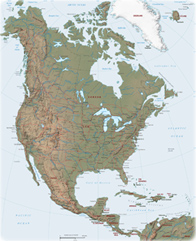 maps of american continent