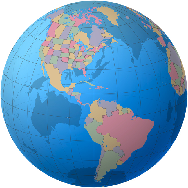 american continent map of