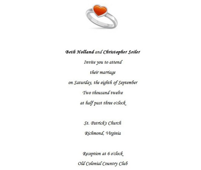 Wedding Invitations Bride Groom Hosting 1 Wording Free