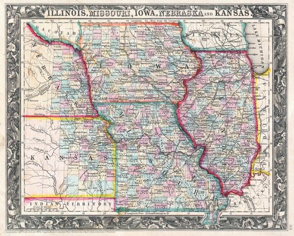 Illinois Missouri Iowa Nebraska and Kansas