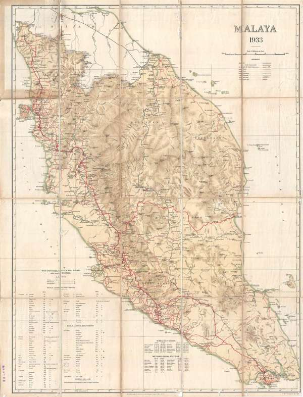 Malaya 1933 Geographicus Rare Antique Maps