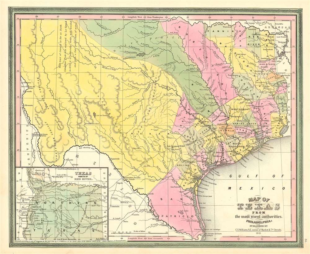 map of texas from