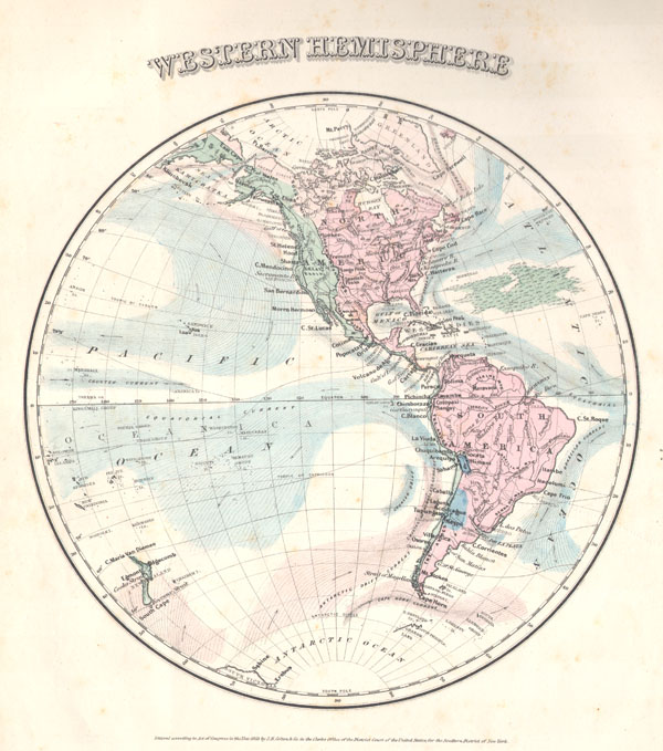 Map North America Geographic Features