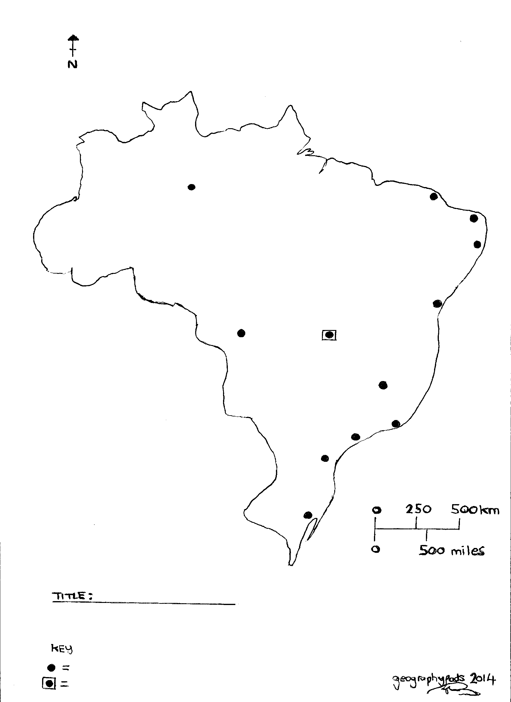 Brazil Map To Label