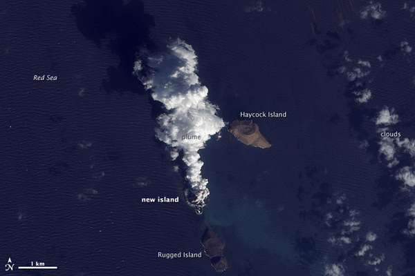ZUBAIR ISLANDS ON DECEMBER 23, 2011. SOURCE: NASA'S EO-1 – ALI.