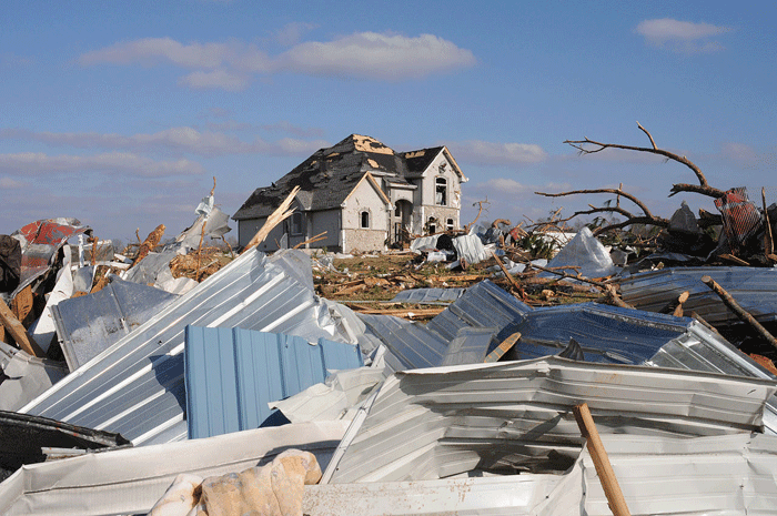 Tornado Damage in Lafayette, TN. Source: FEMA.