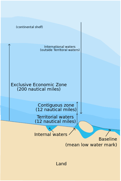 Map of maritime zones.