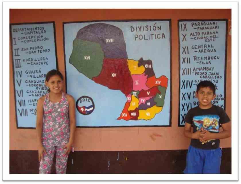Map that Devon Reeser helped school-aged children in Paraguay create.