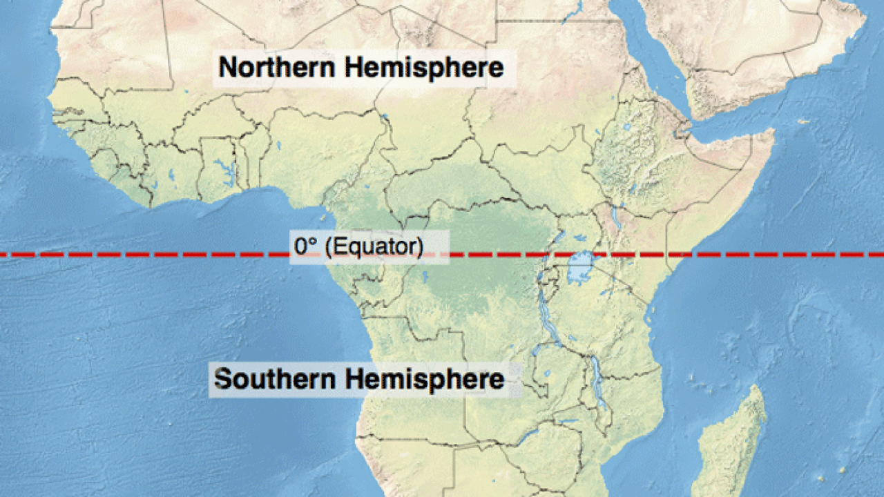 Map Of Africa Equator.Which Continent Lies In All Four Hemispheres Geography Realm