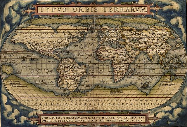 Ortelius World Map Typvs Orbis Terrarvm, 1570.
