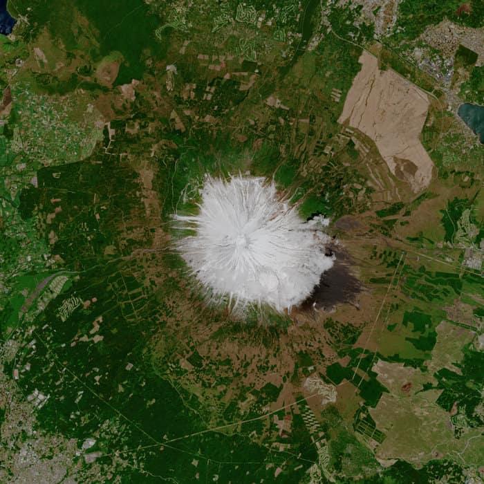Mountain Fuji, Copernicus Sentinel data (2019), processed by ESA,CC BY-SA 3.0 IGO