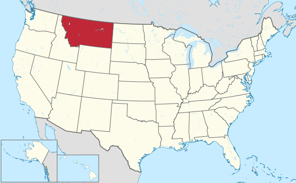 State of Montana (shaded red). Map: TUBS, Wikimedia, CC BY-SA 3.0