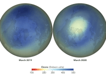Atmospheric Ozone Hole Over Arctic Region
