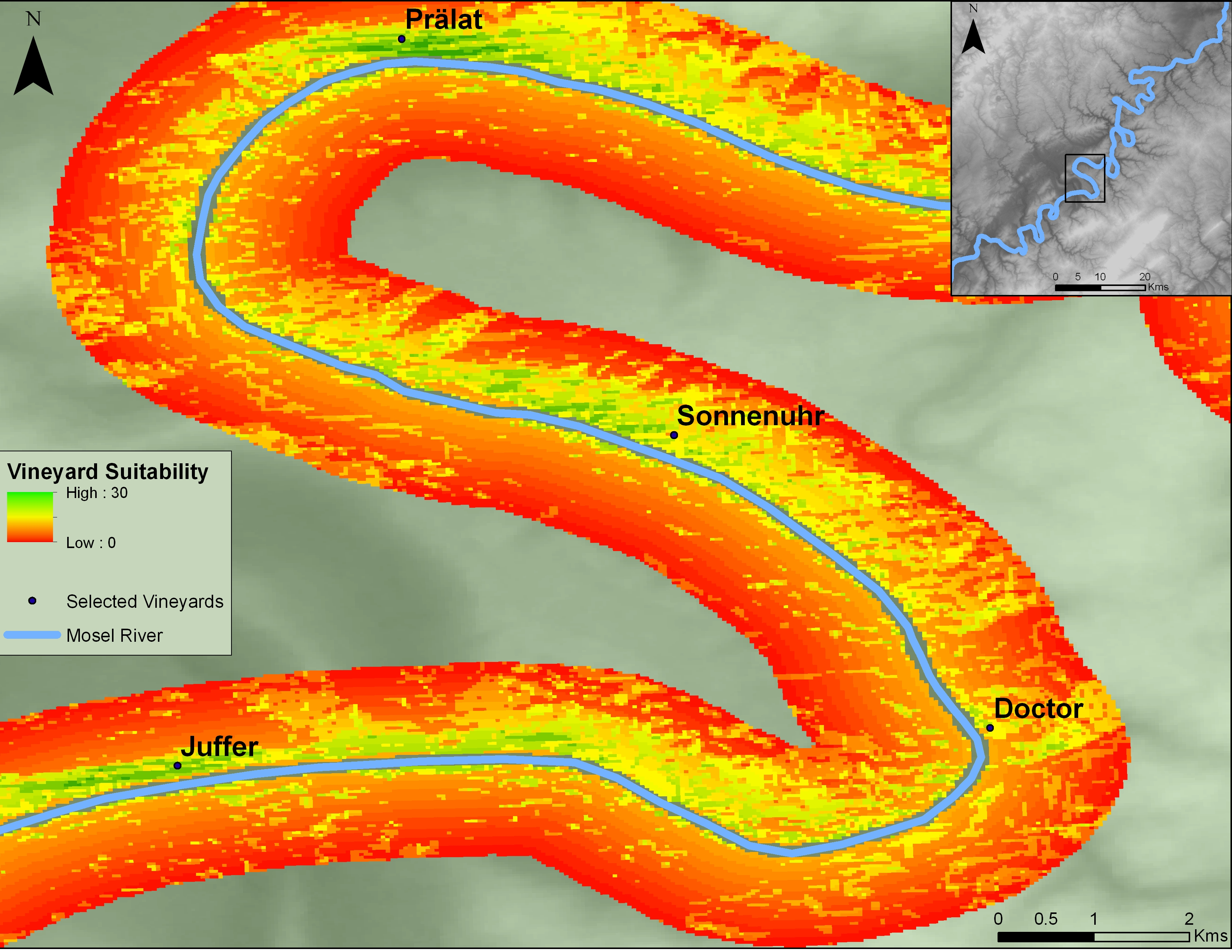 Mapping Terroir Along The Mosel River Geo Ideas