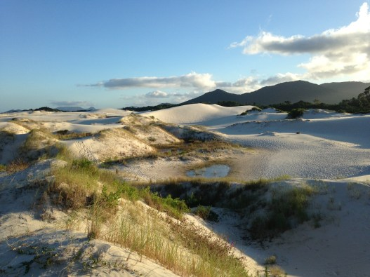Just south of the lake is a massive dune field. A mini-Sahara in paradise!