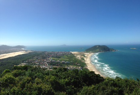 the view of Santinho Beach
