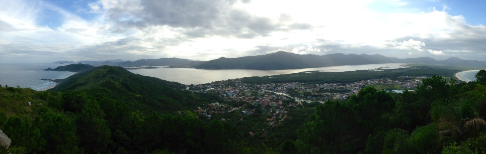 The viewpoint, looking over the Lagoa